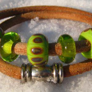 Unieke Handgemaakte Glaskralen Armband